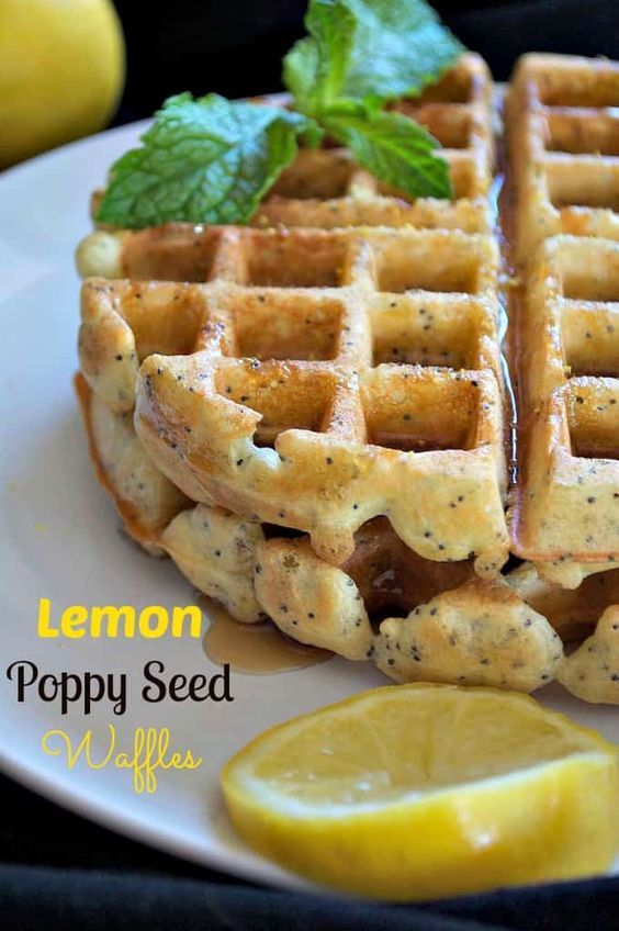 Dairy-Free Lemon Poppy Seed Waffles - Very good! Used Great Value Unsweetened Almond Milk in Vanilla.