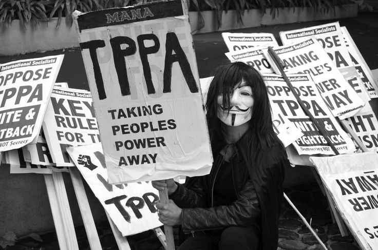 Dunedin Protest against the TPPA March 2015