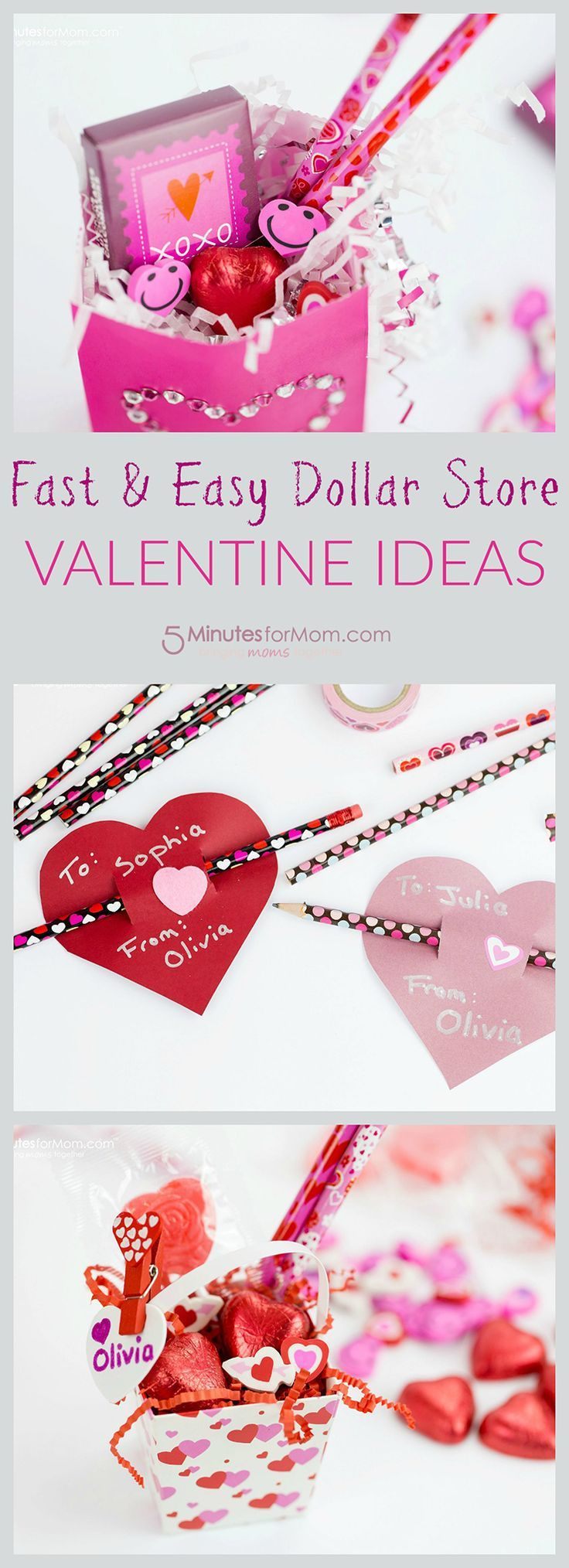Fast and Easy Valentine's Day Dollar Store Ideas
