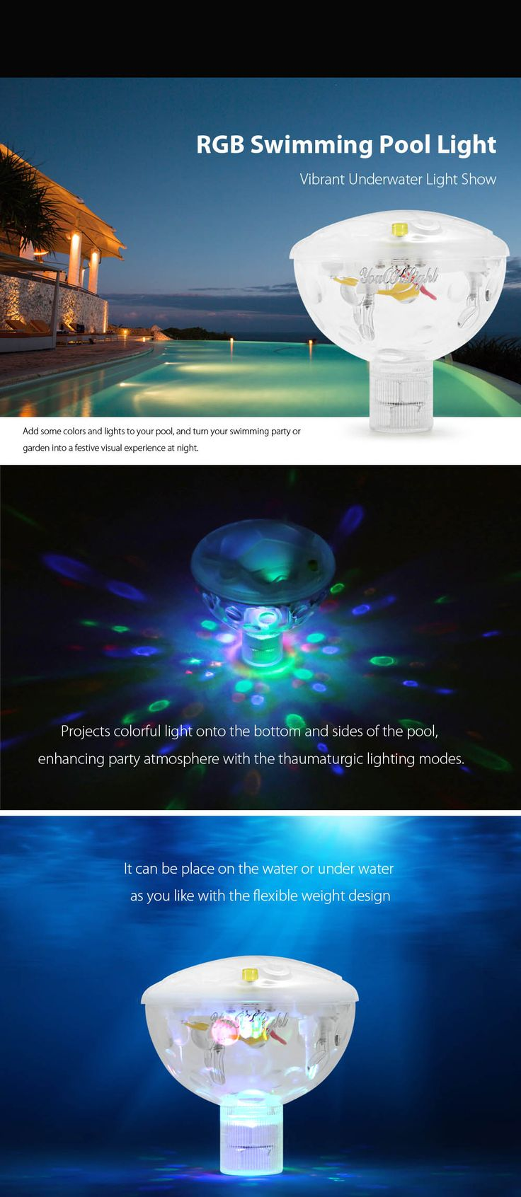 Impact lighting inc orlando florida - Battery Powered Led Pool Light Swimming Party Floating Water Underwater Show