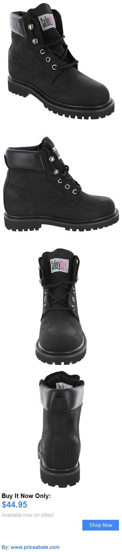 Women Boots: Safety Girl Steel Toe Waterproof Womens Work Boots - Black BUY IT NOW ONLY: $44.95 #priceabateWomenBoots OR #priceabate