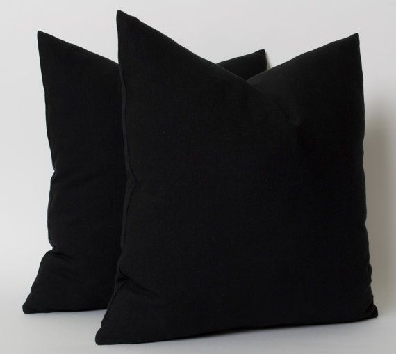 Solid Black Pillow Cover  ● Made of linen ( %65 linen %35 polyester ) ● Reverses to same ● Invisible zipper closure and knife edge construction ● Overlocked inner seams  Care: Dry cleaning  # THIS SALE IS FOR 1 PILLOW COVER ONLY # # PILLOW INSERT IS NOT INCLUDED #  Shipping :  ●●All items delivery by UPS (2-3 days delivery)●● ● All destination expenses duties/taxes etc. will be paid by receiver.    I try to show the unique colors and textures of each fabric as accurately as possible. Ple...
