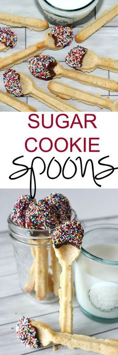 Sugar Cookie Spoons - Taking milk and cookies to a whole other level! So cute!