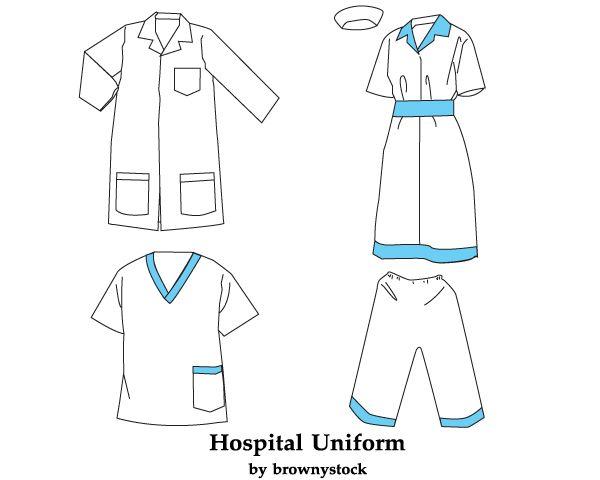 Hospital Uniform Vector Template Free Free Vector