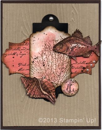 Stampin' Up! Cards - By the Tide, Gorgeous Grunge, Everything Eleanor