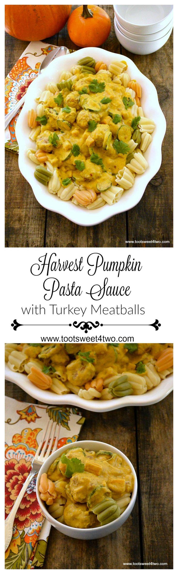 Pasta Sauce with Turkey Meatballs | Recipe | Pumpkin Pasta Sauce ...