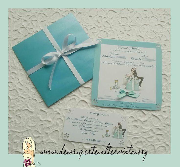Partecipazioni Matrimonio Color Tiffany.Partecipazioni Matrimonio Tiffany Matrimonio Tiffany