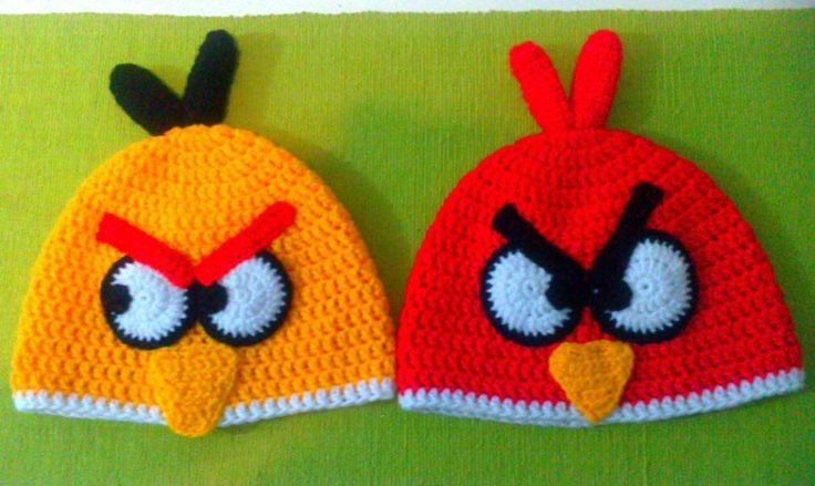 ANGRY BIRDS DIVERSOS (TEJIDOS) on Pinterest | Angry Birds, Hats and C…