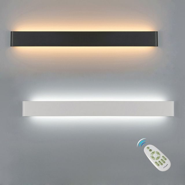 Led Wall Lamp Dimmable 2 4g Rf Remote Control Modern Bedroom Beside Wall Light Living Room Stairway Lighting Decoration Fixtures Review Led Wall Lamp Wall Lights Wall Lights Living Room
