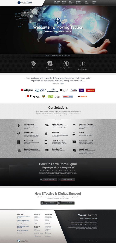 Moving tactics, web design, corporate, signage