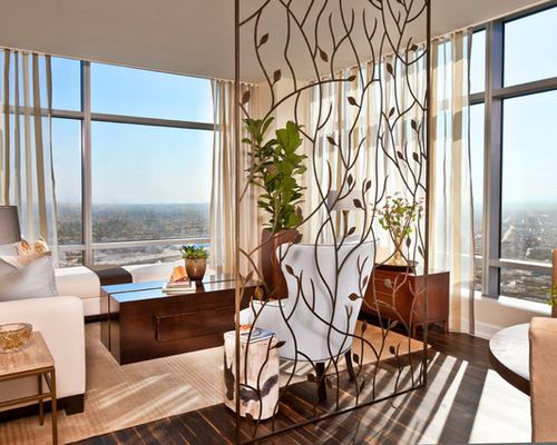 Beautiful Room Partition Enhances This Interior