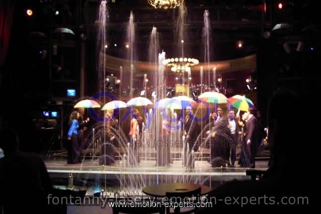 pokazy laserowe , fontanny wodne