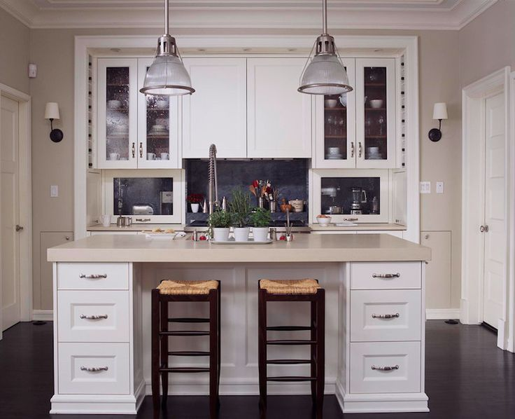 Paint colors Burns and Beyerl Architects - kitchens - hidden appliances, hidden kitchen appliances, pull up cabinet, small appliances cabinet, concealed ...