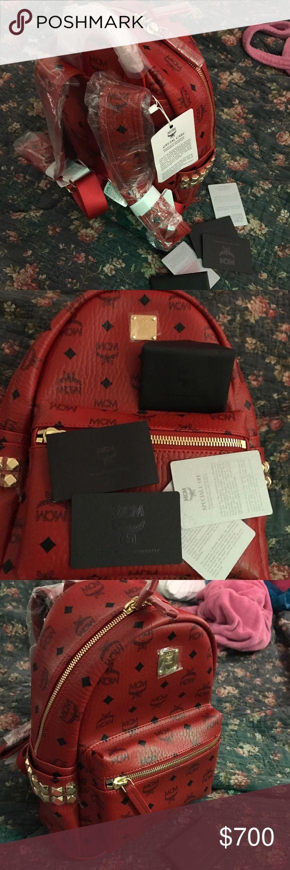 MCM Medium Bagpack - Red New With Tag MCM Bags Backpacks