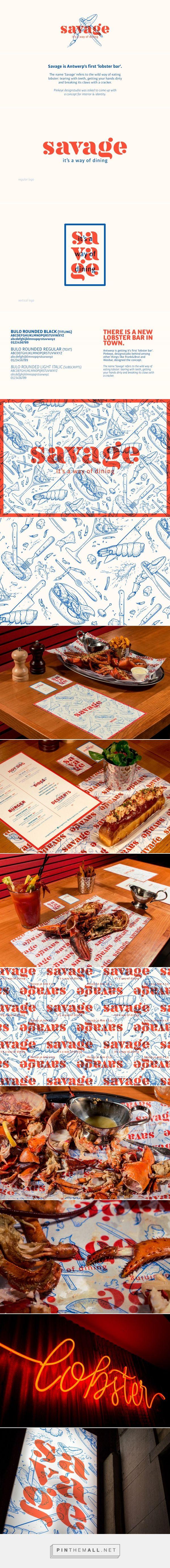 SAVAGE lobster restaurant on Behance - created via https://pinthemall.net
