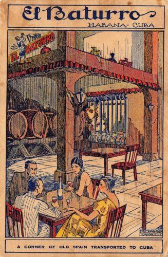 1920's El Baturro Spanish Tavern in HAVANA, Cuba - La Habana