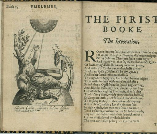 Emblems, divine and moral, together with Hieroglyphicks of the life of man :: Emblem Books
