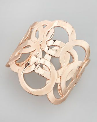Rose Golden Circle Cuff Bracelet by Sequin at Neiman Marcus.