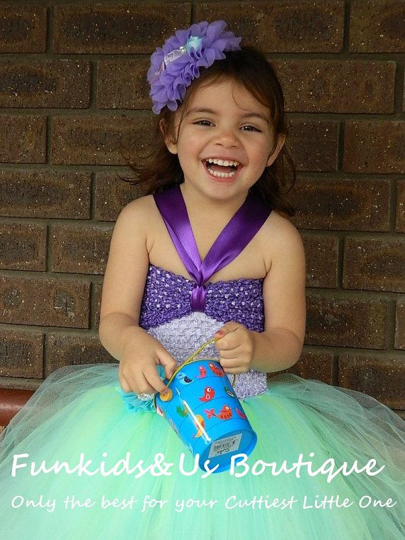 Little Mermaid Tutu dress Under the Sea by FunkidsandUsBoutique