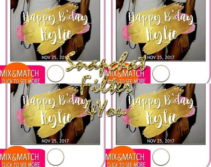 Birthday Snapchat Geofilter Glitter Birthday Snapchat Filter