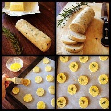 Crackers au parmesan et romarin - technique pas à pas
