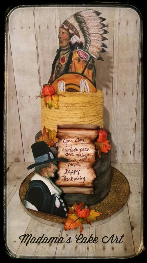 Thanksgiving Blessing by Madama's Cake Art