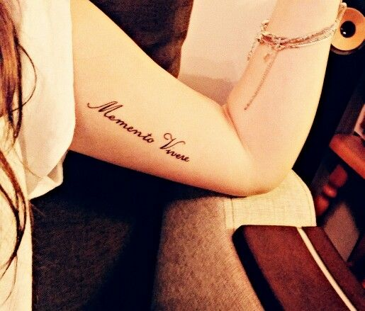 Don't forget to live in Latin tattoo , under arm tattoo