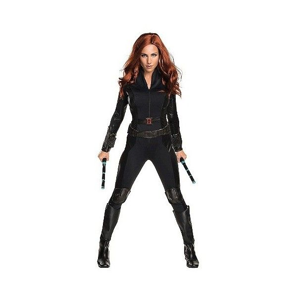 Marvel's Captain America: Civil War Black Widow Secret Wishes Women's... ($33) ❤ liked on Polyvore featuring costumes, halloween, multicolored, super hero costumes, adult women costumes, ladies superhero costumes, black widow adult costume and captain america adult costume