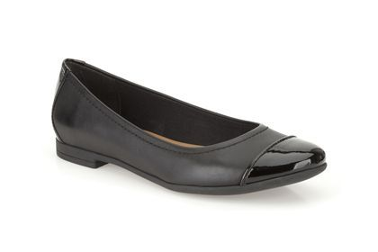 Clarks Atomic Haze - Black Combi Leather - Womens Smart Shoes | Clarks