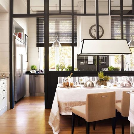 Closing off an open-plan kitchen or semi open-plan kitchen design