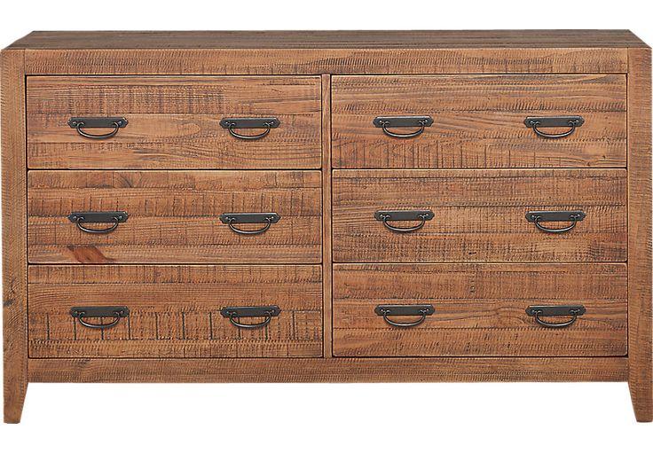 Palm Grove Brown Dresser-DressersDark Wood