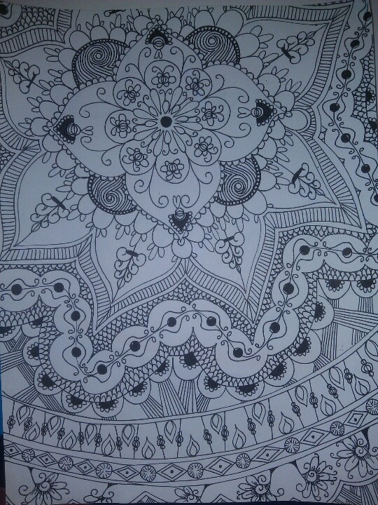 Zentangle attempt #2