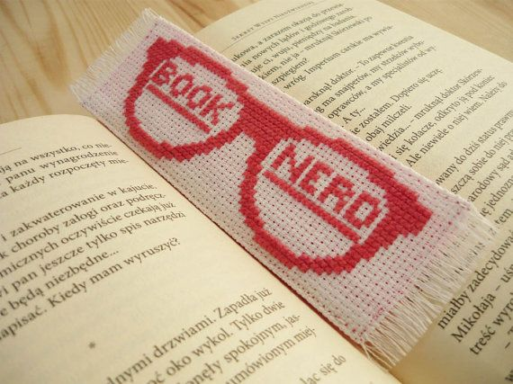 This quirky fabric, cross-stich bookmark would make the perfect gift for your bookworm friend.