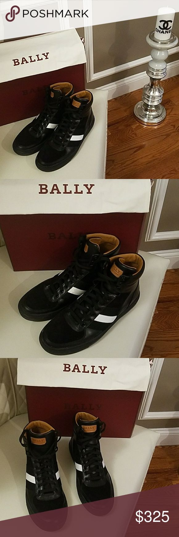 Mens Bally Black Sneakers Shoes US size 9 EUR 42 Retail $525 Mens Bally Black Sneakers Shoes US size 9 In mint like new condition wore it once Bally Shoes Athletic Shoes