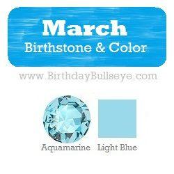 birthstones light blue and gemstones on