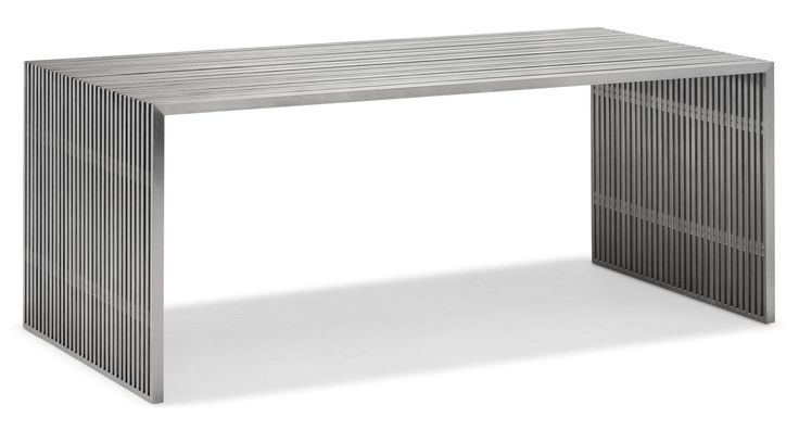 Zuo Modern Novel Dining Table Novel Dining Table Brushed Stainless Steel Furniture Tables Dining Tables