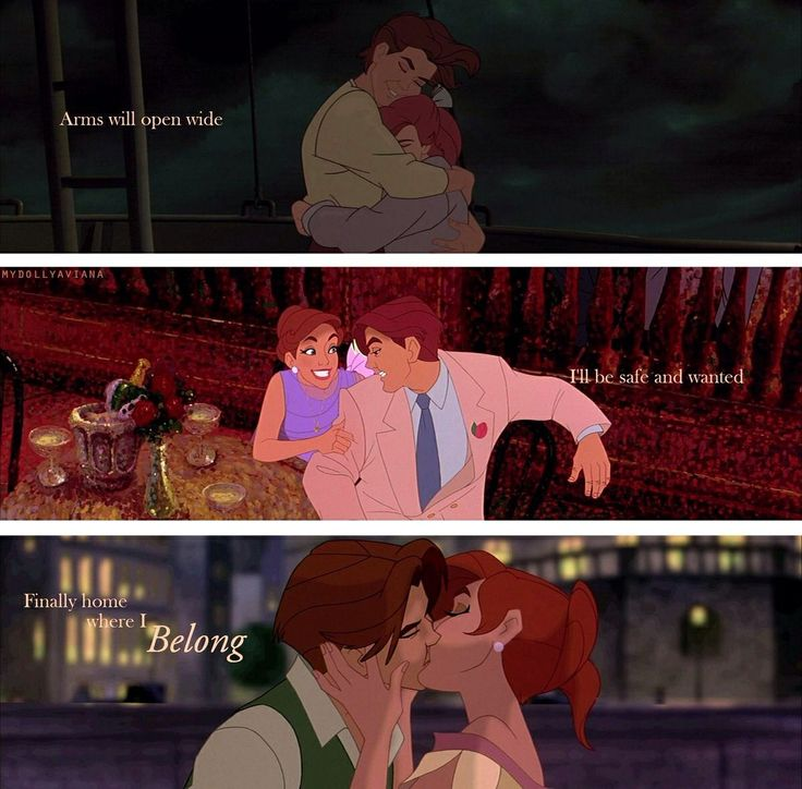 Anastasia and Dimitri-with each other, where they belong