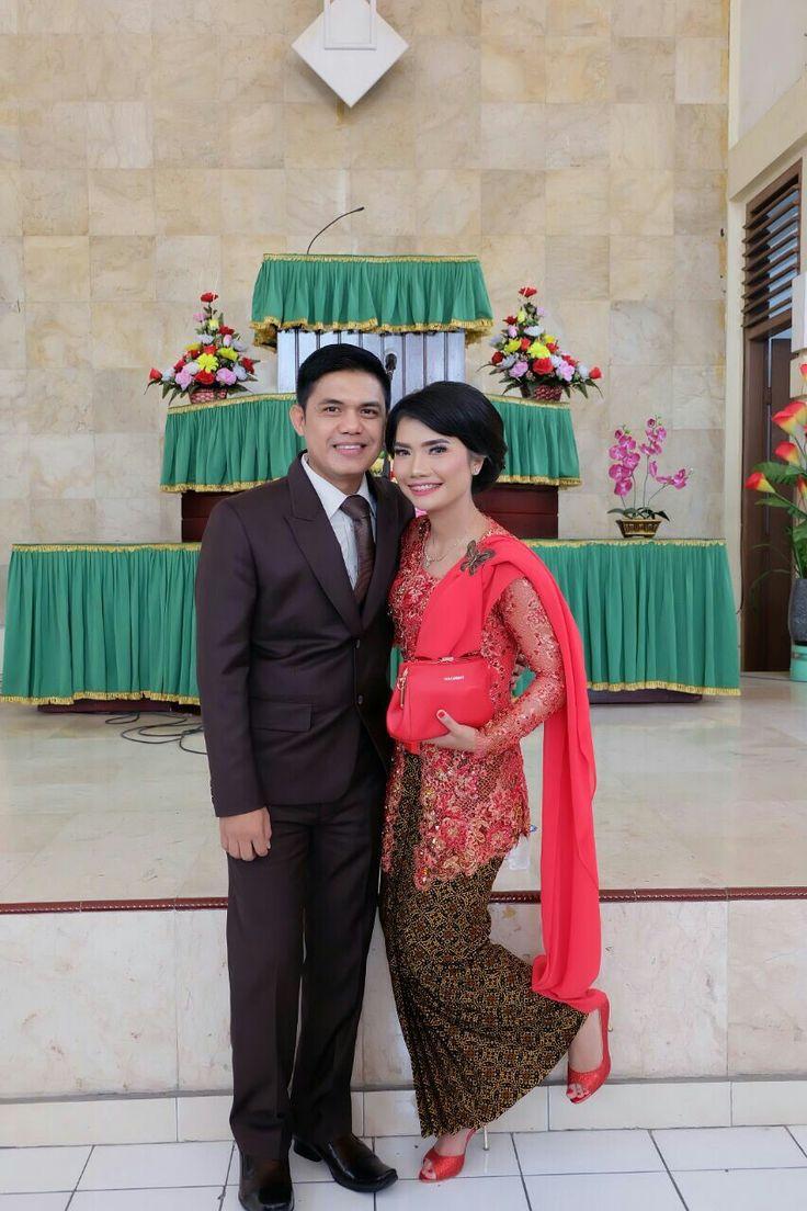 Wedding sis Norhaida Sitio. Kebaya martuppol by @Ulimora_kebaya. (IG)