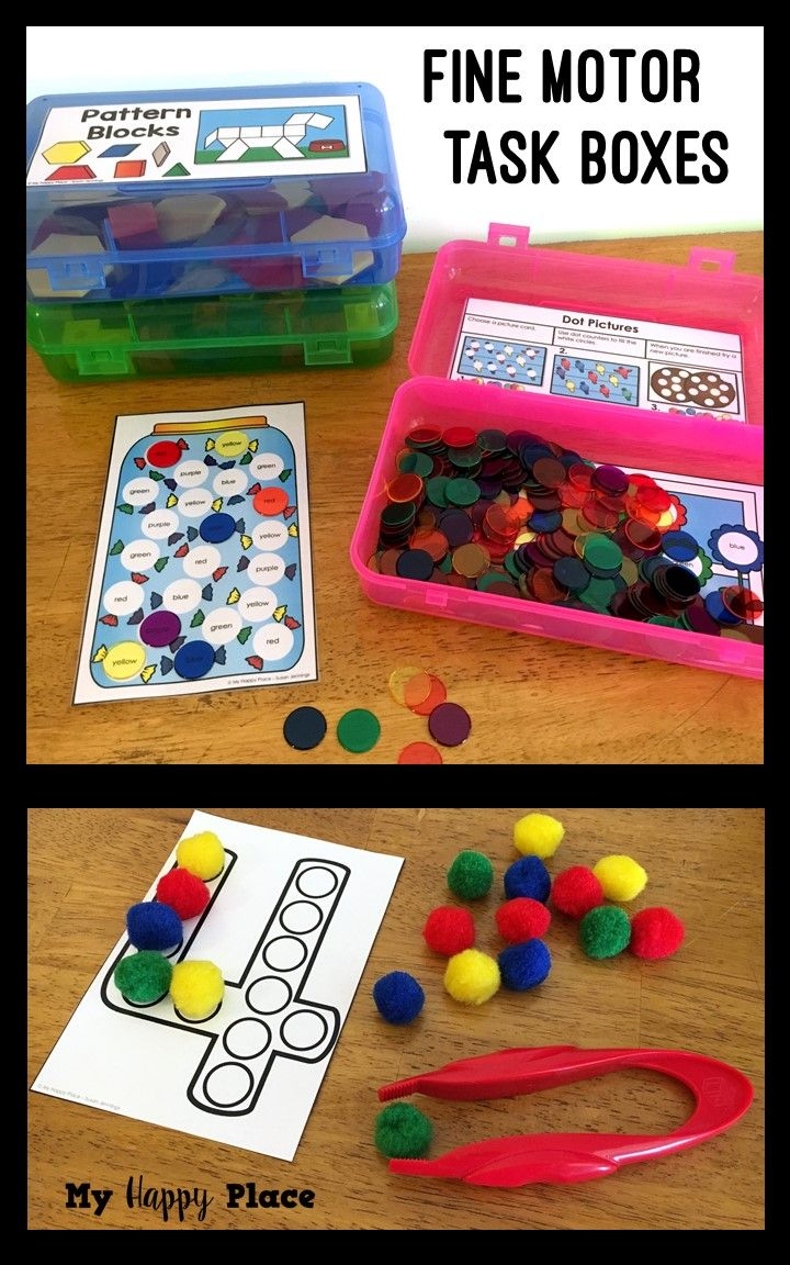 18 Fine Motor Skills Activities! Great for preschool and kindergarten - beads, pattern blocks, snap cubes, and more!