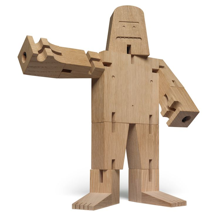 David Weeks' miniature Bigfoot toy folds into a stackable cube