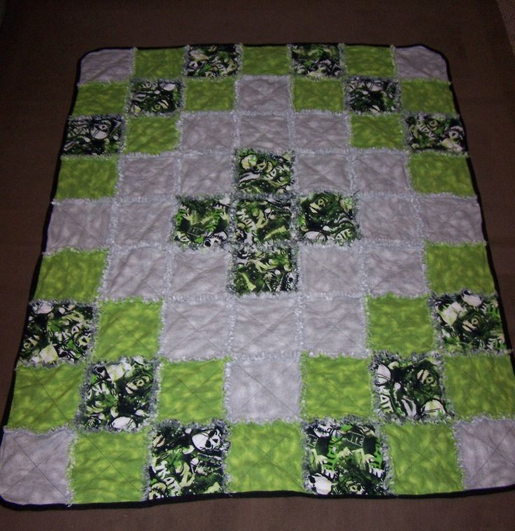 Boy's flannel rag quilt   This is the completed flannel rag …   Flickr