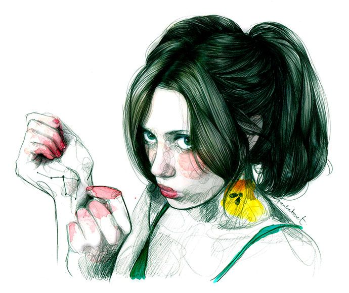 Cool expressive #illustration by Paula Bonet