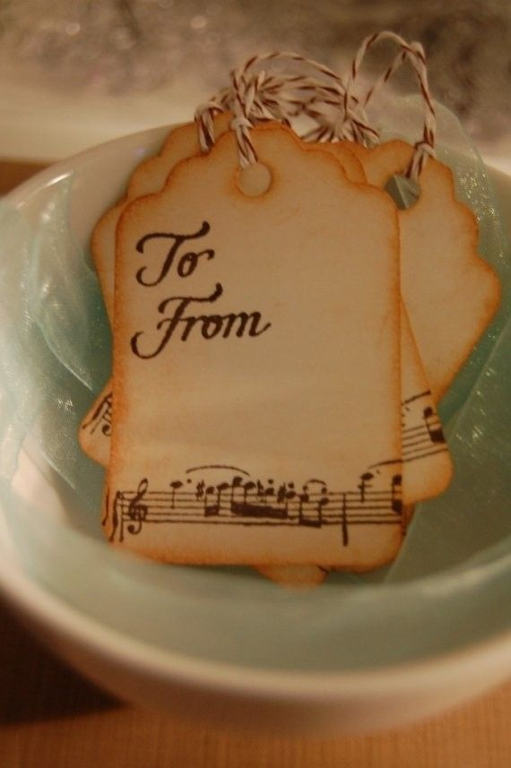 Christmas tags- I love these! or we could revamp this for the wedding!