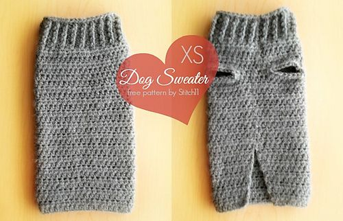 XS Dog Sweater by Stitch11 - featured in the January 2014 designer showcase!