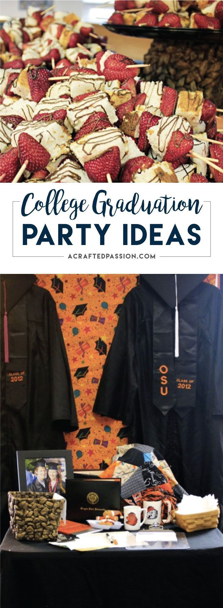 Love these ideas! Check this out for many creative college graduation party ideas full of DIY projects and graduation party dessert ideas.