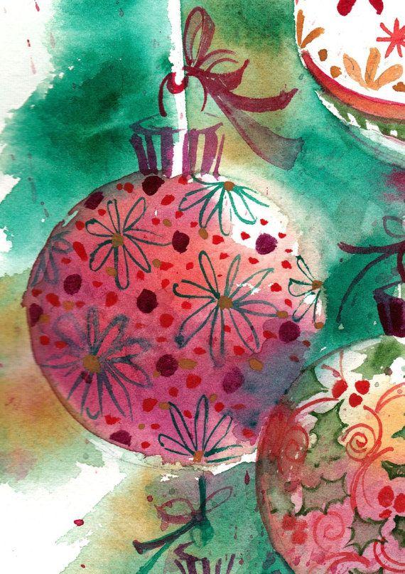 Die besten 20 aquarell weihnachten ideen auf pinterest aquarell weihnachtskarten gemalte - Aquarell weihnachten ...