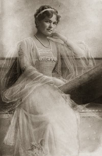 Grand Duchess Olga Nikolaievna.  Tsar Nicholas II had four beautiful daughters.  Olga was his oldest child.