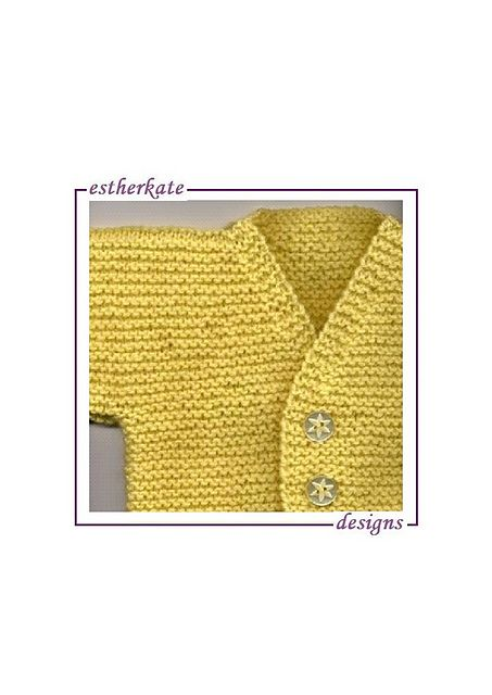 f2cf96ffb44 Ravelry  Garter Cardigan for Baby pattern by Esther Kate