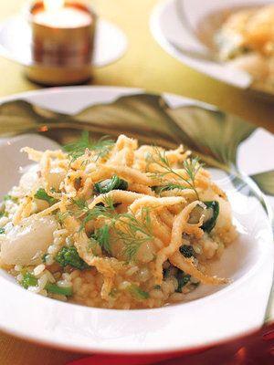 【ELLE a table】菜の花とかぶのリゾット、白魚のフリット添えレシピ|エル・オンライン