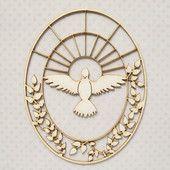 Duch Święty w Owalu z Listkami - Tekturki